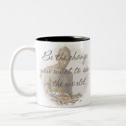 Taza de café de la cita de Mahatma Gandhi/taza