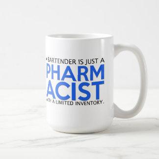 Taza de café de la cita del farmacéutico