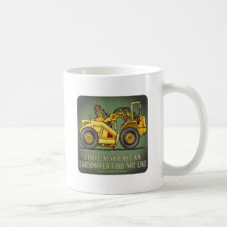 Taza de café de la cita del operador del raspador