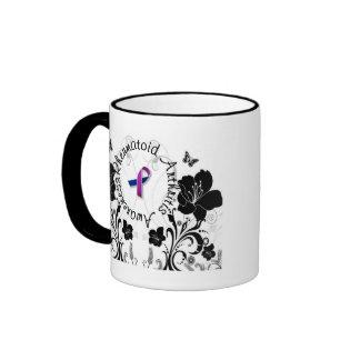 Taza de café de la conciencia de la artritis reuma