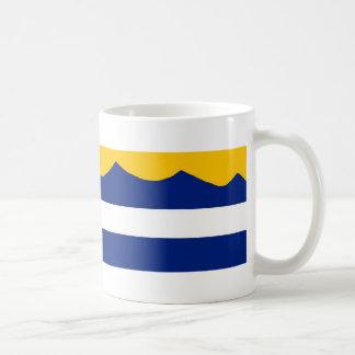 Taza de café de la cordillera de la bandera de Col