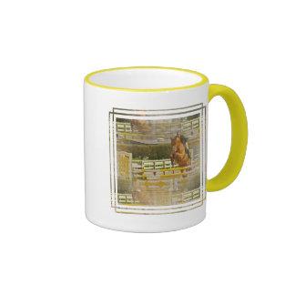 Taza de café de la demostración del caballo del pu