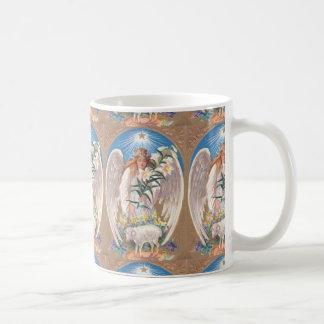 Taza de café de la diversión del ángel del vintage