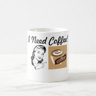 ¡Taza de café de la diversión necesito el café! Taza De Café