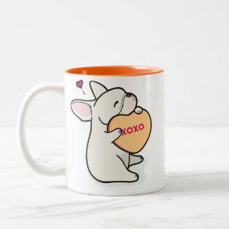 Taza de café de la Dogo-Crema del 2015-French de