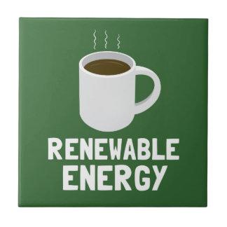 Taza de café de la energía renovable tejas