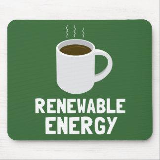 Taza de café de la energía renovable mousepads