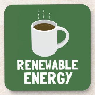 Taza de café de la energía renovable posavaso