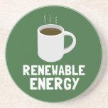 Taza de café de la energía renovable posavasos para bebidas