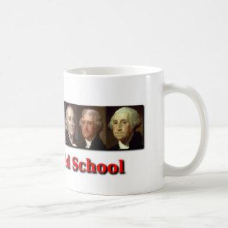 Taza de café de la escuela vieja