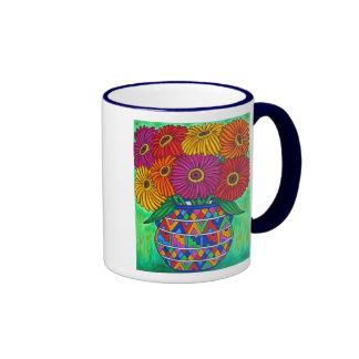 Taza de café de la fiesta del Zinnia
