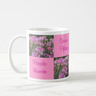 Taza de café de la flor de araña