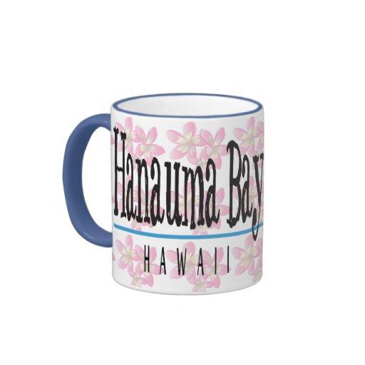 Taza de café de la flor del Plumeria de Hawaii de
