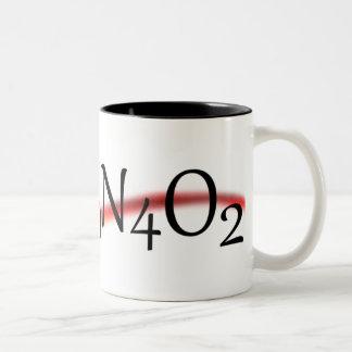 Taza de café de la fórmula química del cafeína