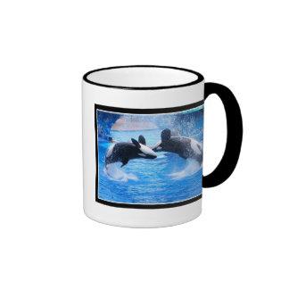Taza de café de la foto de la ballena