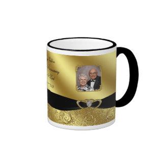 Taza de café de la foto del aniversario de boda de