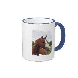 Taza de café de la foto del caballo de proyecto