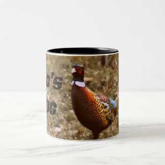 Taza de café de la foto del faisán