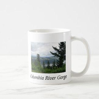Taza de café de la garganta del río Columbia