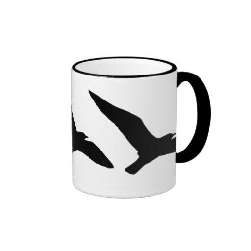 Taza de café de la gaviota