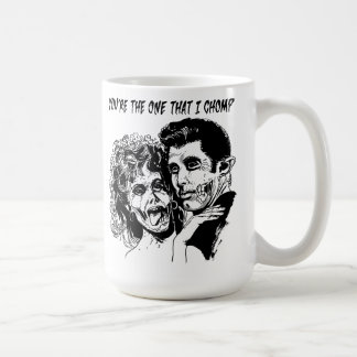 Taza de café de la grasa del zombi