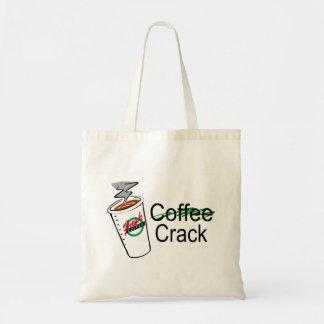 Taza de café de la grieta del café bolsa tela barata