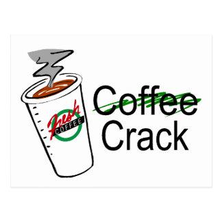 Taza de café de la grieta del café postal