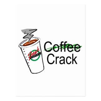 Taza de café de la grieta del café tarjetas postales
