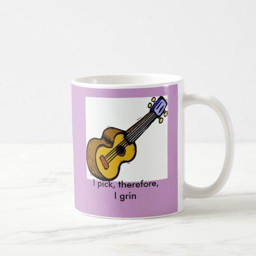 Taza de café de la guitarra