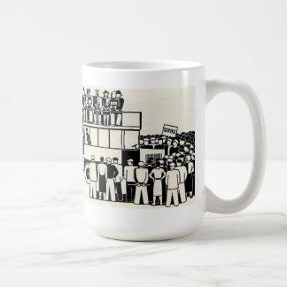 taza de café de la huelga