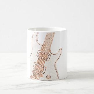 Taza de café de la imagen de la guitarra