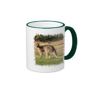 Taza de café de la imagen del canguro
