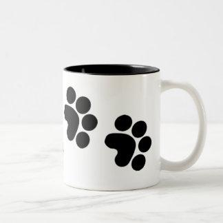 taza de café de la impresión de la pata