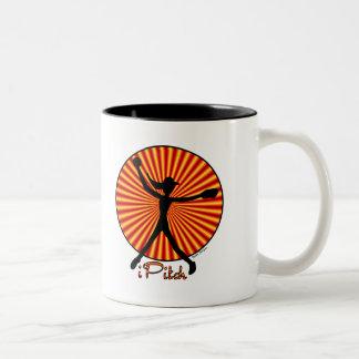 Taza de café de la jarra del softball de Fastpitch