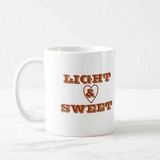 Taza de café de la luz y del amor - personalizada