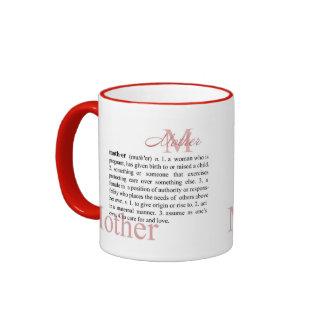 Taza de café de la madre de la definición
