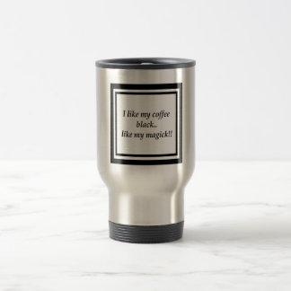 Taza de café de la magia negra