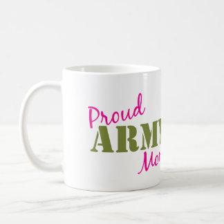 """Taza de café """"de la mamá orgullosa del ejército"""""""