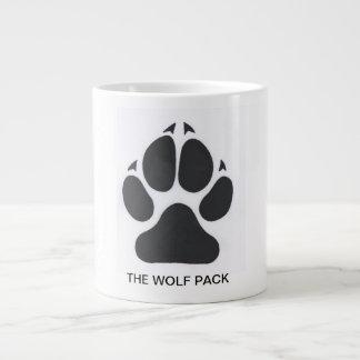 Taza de café de la manada de lobos taza grande