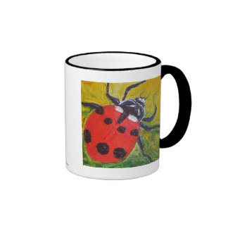 Taza de café de la mariquita