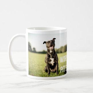 """Taza de café de la mejor mamá del pitbull del Taza"