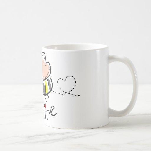 Taza de café de la mina de la abeja