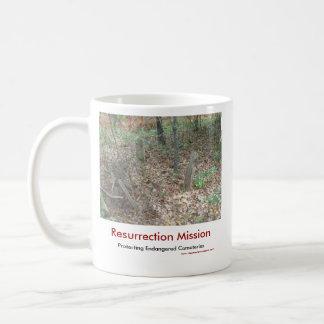 Taza de café de la misión de la resurrección
