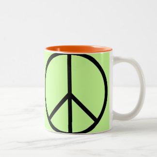 Taza de café de la MOD del signo de la paz