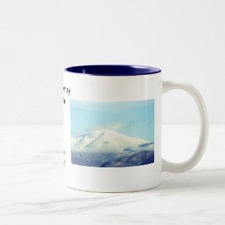 Taza de café de la montaña de WhiteFace