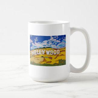 Taza de café de la muestra de Hollywood