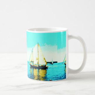 taza de café de la navegación del schooner