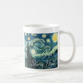 Taza de café de la noche estrellada