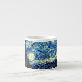 Taza de café de la noche estrellada de Van Gogh Taza Espresso