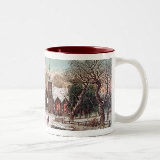 Taza de café de la Nochebuena del vintage